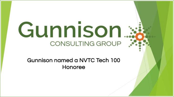 Gunnison named a NVTC Tech 100 Honoree