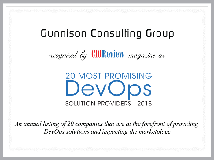 Gunnison Consulting Group Certificate