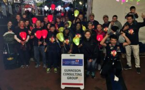 light the night picture with gunnison staff and battery powered torches